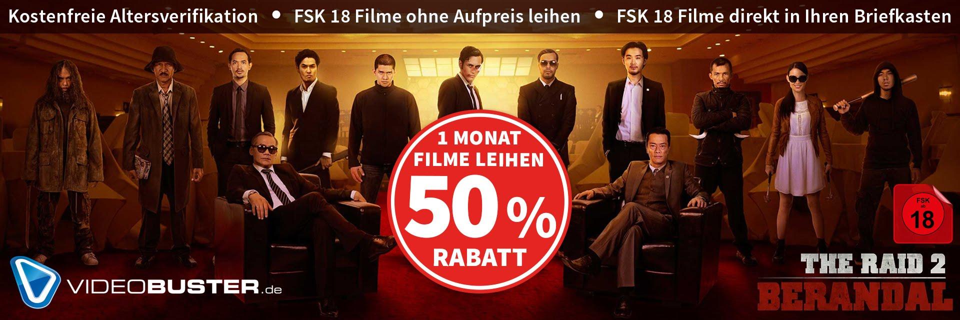 Videobuster 1 Monat mit 50% Rabatt testen!