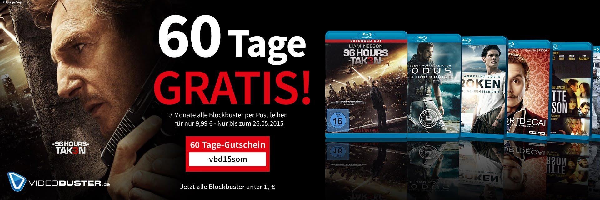 Videobuster 60 Tage gratis!